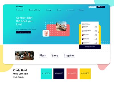 Social banking social website concept web design website banking app bank banking ui daily ui design