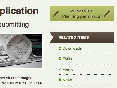 Call to action green brown css3 reflection items jadu powered by jadu helvetica