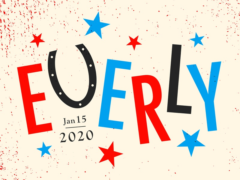 Everly 2020 texture vector poster illustration type graphic typography design