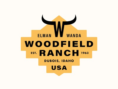 Woodfield Ranch branding logo vector illustration type graphic typography design