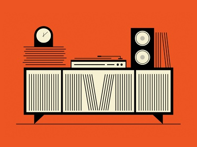 M-Record Collection vector illustration type graphic typography design