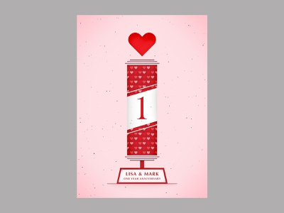Anniversary poster vector illustration type graphic typography design