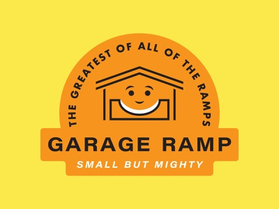 Garage Ramp vector illustration type graphic typography design