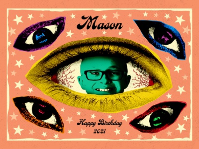 Mason poster vector illustration type graphic typography design