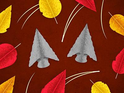 Arrowheads poster vector illustration graphic design
