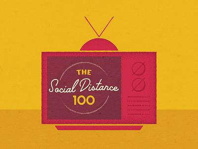 The Social Distance 100 coronavirus pleasantville jacobburnsfilmcenter letterboxd jbfc oldtv tv cinema movie film design theater simple illustrator illustration