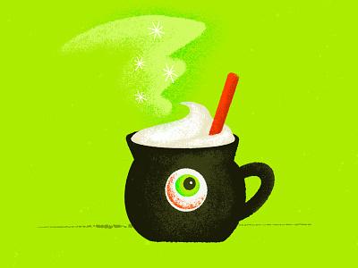 Inktober Day .02 / Whisp procreate art cauldron potion coffee halloween spooky witch whisp inktober2020 inktober procreate illustrator illustration