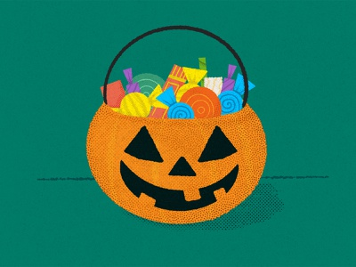 Inktober Day .03/ Bulky spooky pumpkin candy procreate inktober2020 inktober halloween illustrator illustration