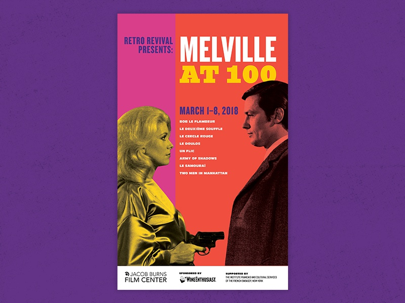 Melville at 100 Series retro theater cinema melville poster film movie