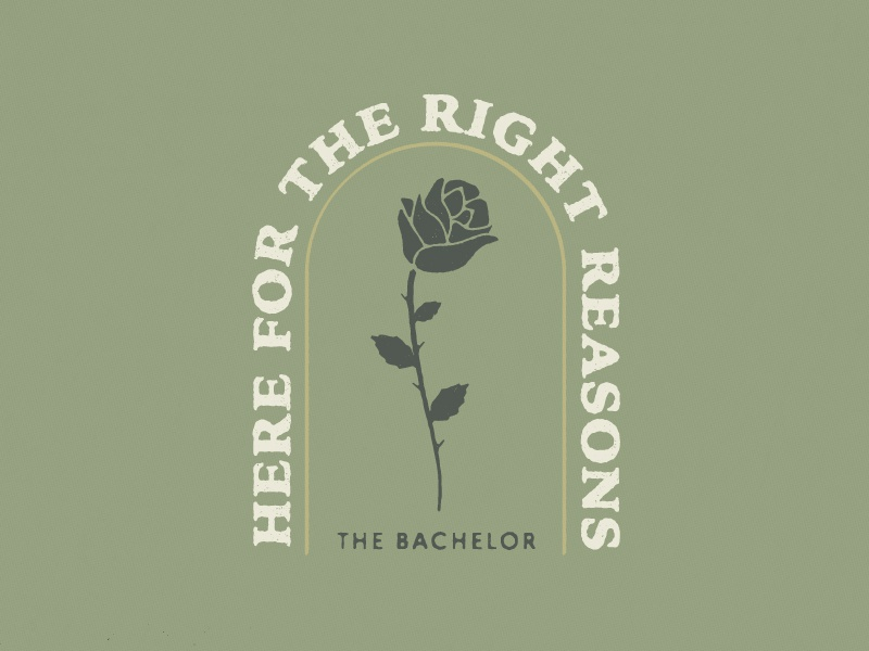 Bachelor Nation typography badge illustrator reality tv bachelorette bachelor illustration rose