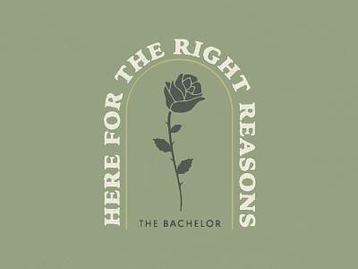 Bachelor Nation typography badge illustrator reality tv bachelorette bachelor illustration rose