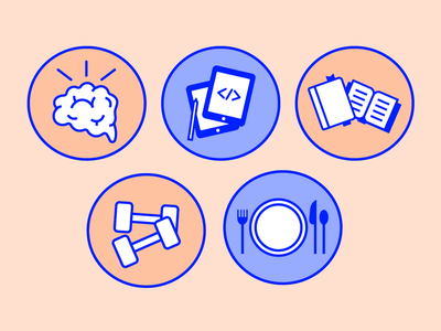 Boys and Girls Club Icons icon set icons design boysandgirlsclub vector simple illustrator illustration icons