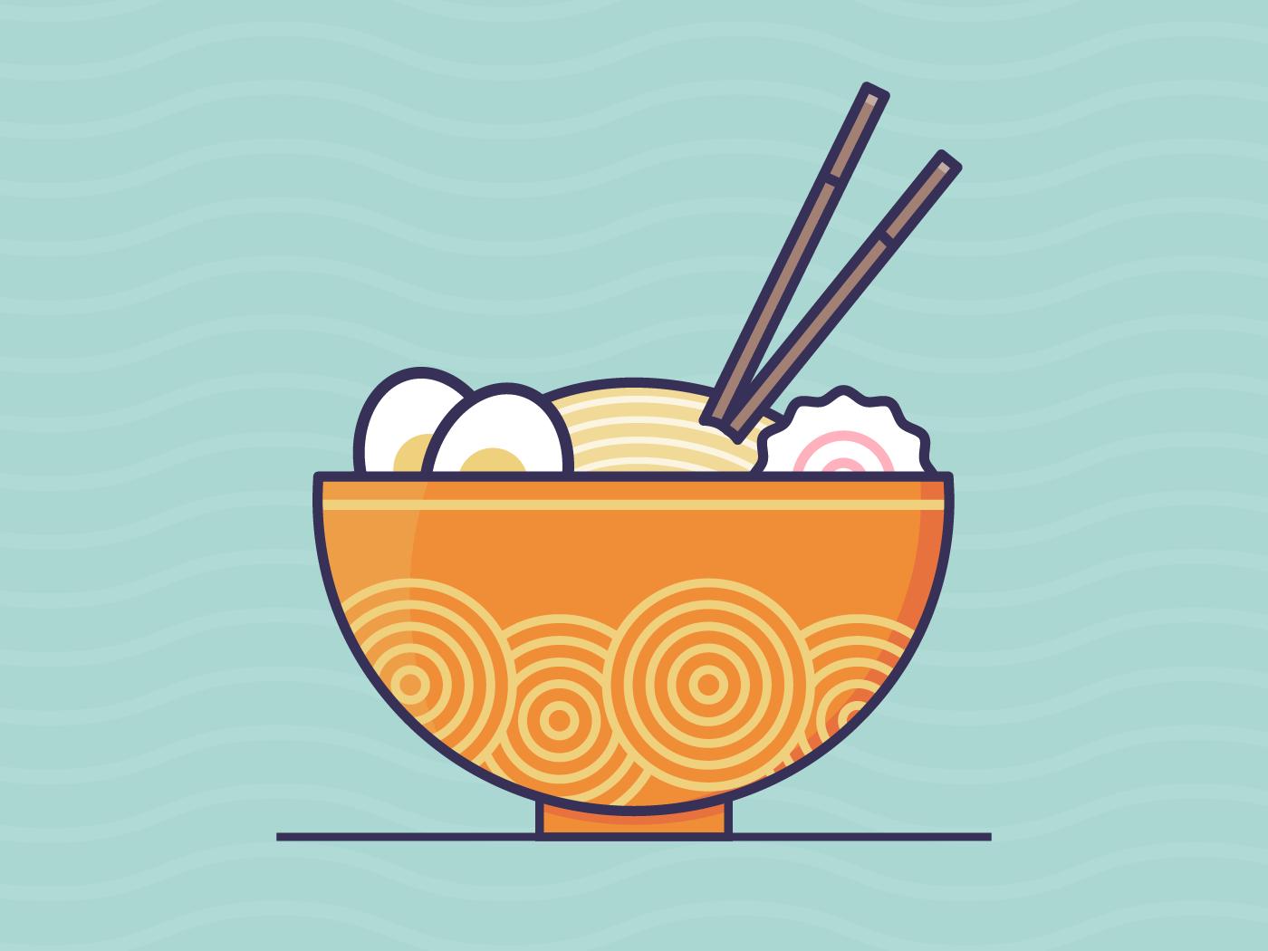Ramen ramen food vector simple illustrator illustration