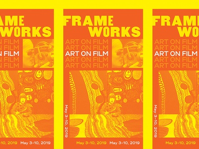 Frameworks Poster film theater design kusama typography painting art poster art poster