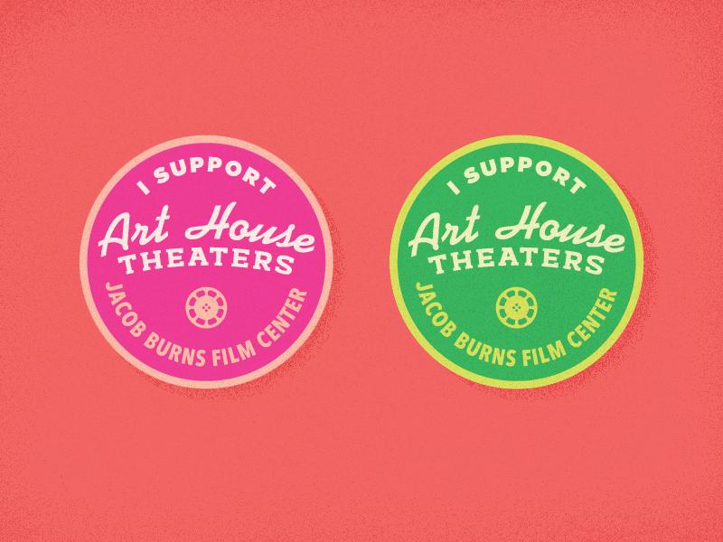 Art House Pins typography design vector theater movie reel film arthousetheater arthouse