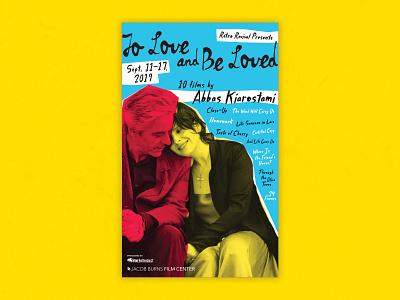 Abbas Kiarostami Retrospective Poster jacob burns film center retro poster design kiarostami poster cinema typography movie film design theater
