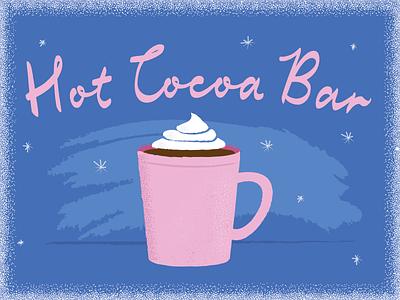 Hot Cocoa Bar texture winter holiday hot cocoa hot chocolate illustrator illustration