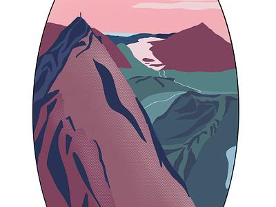 Mountains wales dusk mountains sunset