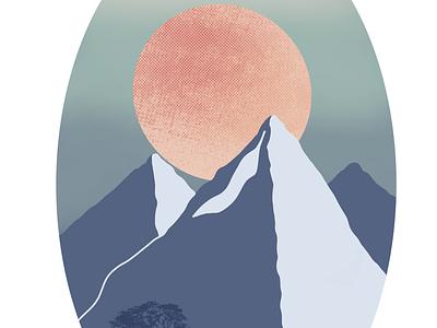 Mountain & Sun digitalpaint digital art procreateapp procreate landscape mountains