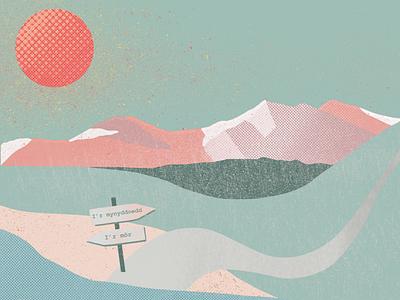 Pastel Mountains pastels pastel digital illustration digitalart nature illustrator hand drawn digital color poster textures outdoor mountains mountain illustration art procreate app procreate illustration