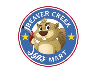 Gas Station Logo vector logotype logo illustration identity branding beaver