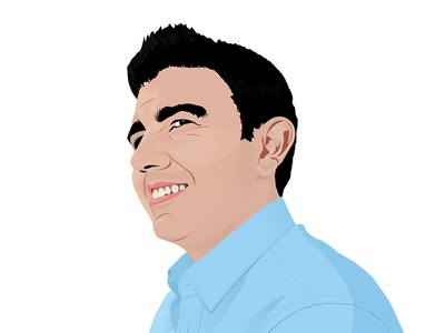 Self-Portrait vector self-portrait illustration