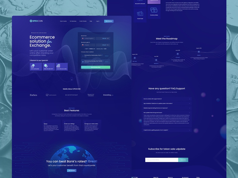 XPEXCOIN - Cryptocurrency Landing Page