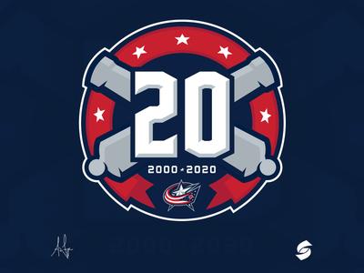 Columbus Blue Jackets 20th Anniversary
