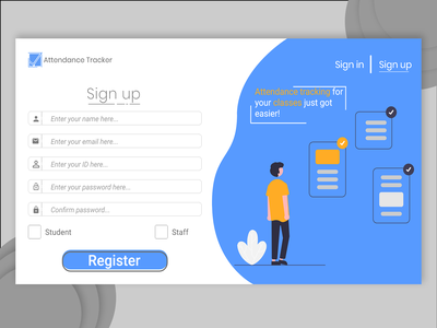 Sign Up DailyUI minimal web app dailyui ui design