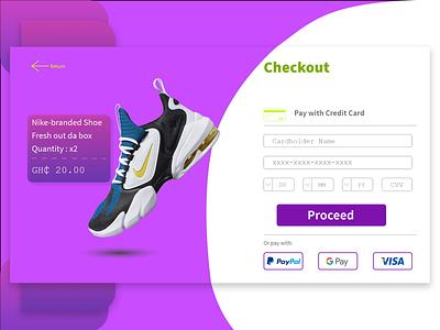 DailyUI #002: Checkout Interface checkout page ux web ui minimal dailyui