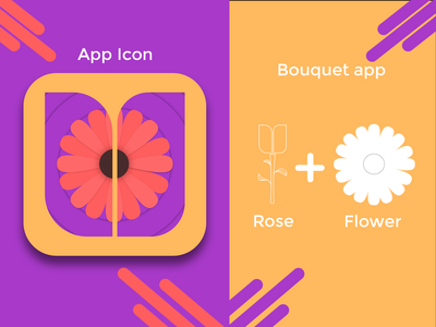 Daily UI :: 005_Bouquet_App_Icon icon dailyui 005 web dailyuichallenge daily ui dailyui