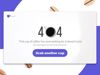 Daily UI : : 008 [404 Page] daily ui 008 ui coffee 404page web dailyui minimal