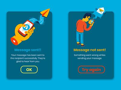 Daily UI : : 011 [Flash Message] icons8 messages flash message daily ui 011 app web ui minimal dailyui