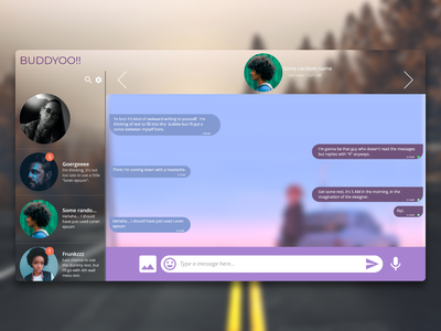 Daily UI : : 013 [Direct Messaging] daily ui 013 direct messaging app web ui minimal dailyui