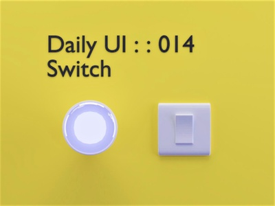 Daily UI : : 015 [On/Off switch] bulb light onoffswitch switch design daily ui 015 minimal dailyui