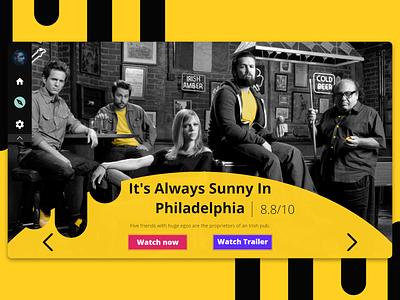 Daily UI 025 : : TV App comedy sunny tv app tv daily ui 025 app web ui minimal dailyui