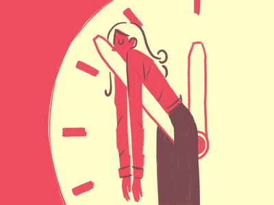 Deadline 2 deadline clock sleep spot illustration illustration