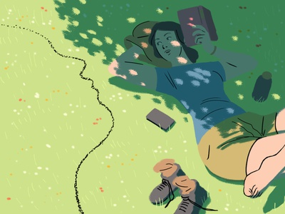 Pareidolia #2 girl editorial illustration illustration
