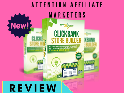 MyCBGienie: Clickbank Store Builder affiliate marketing store builder character clickbank