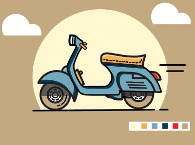 Vespa illustration vector illustration illustrations illustration illustration art