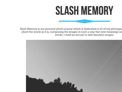 Portfolio Project Page typography design web