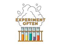 """Experiment Often"" T-shirt Designs"