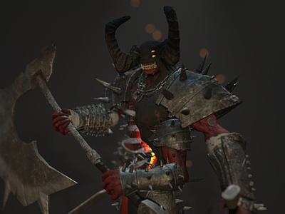 Infernal Executioner zbrush design 3d modeling 3d animation 3dsmax 3dcharacter 3d artist 3d art 3d