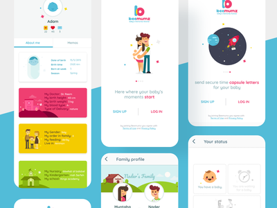 beemums design ui ux app illustration childrens illustration childbook child children