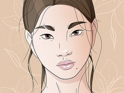She 0307 face sketch portrait illustration