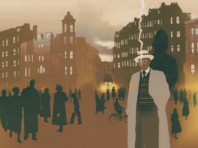 Mr. Campion and Others detective folio society book binding cover design digital art illustration