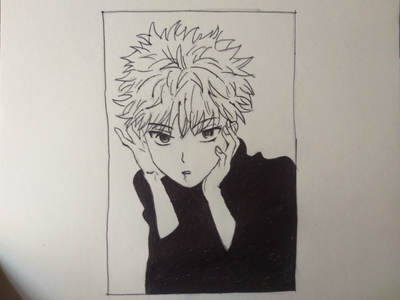 Inktober - Killua, hunter x hunter fan art anime drawing drawing anime fanart hunter x hunter hxh inktober inking killua otaku anime fanart