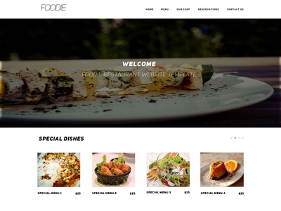 Upcoming Freebie Foodie Psd Web Template