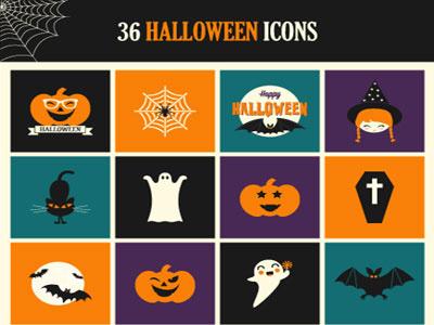 Freebie: Halloween Icon Set (PSD, AI & EPS) freebie halloween icons ai psd eps
