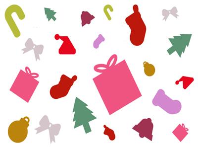 Flat Christmas Vector Icons Final